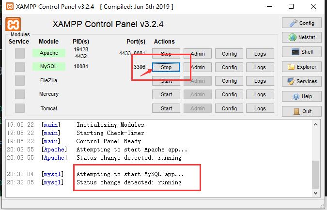 xampp怎么配置mysql环境_xampp安装教程与配置使用教程